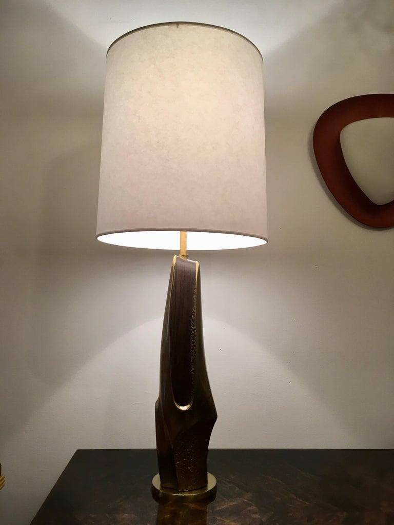 Pair of 1970s American Laurel Company Sculptural Table Lamps For Sale 3