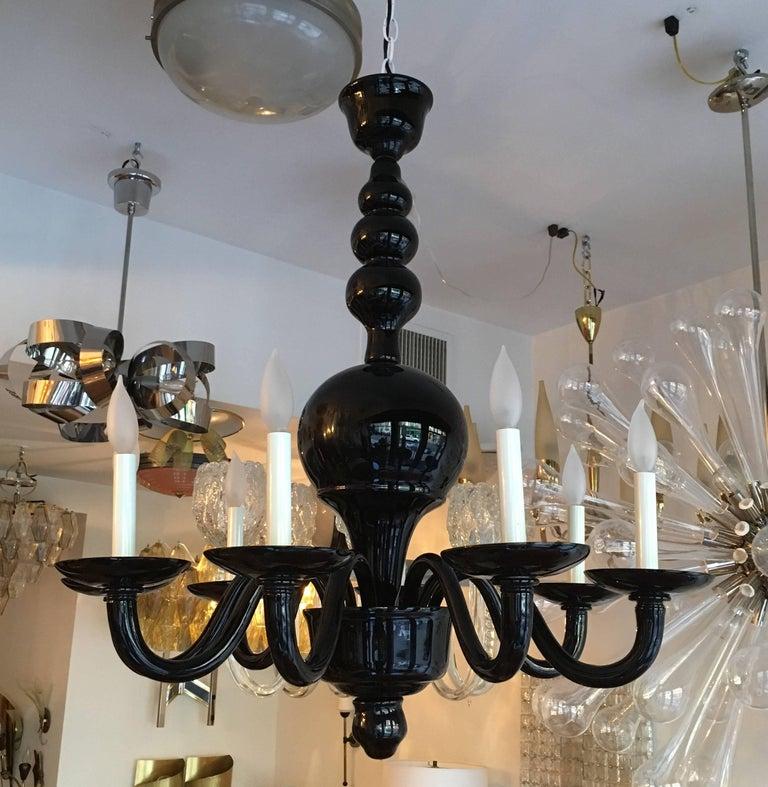 Mid-Century Modern Venetian Murano 1970s Glass Italian Midcentury Chandelier For Sale