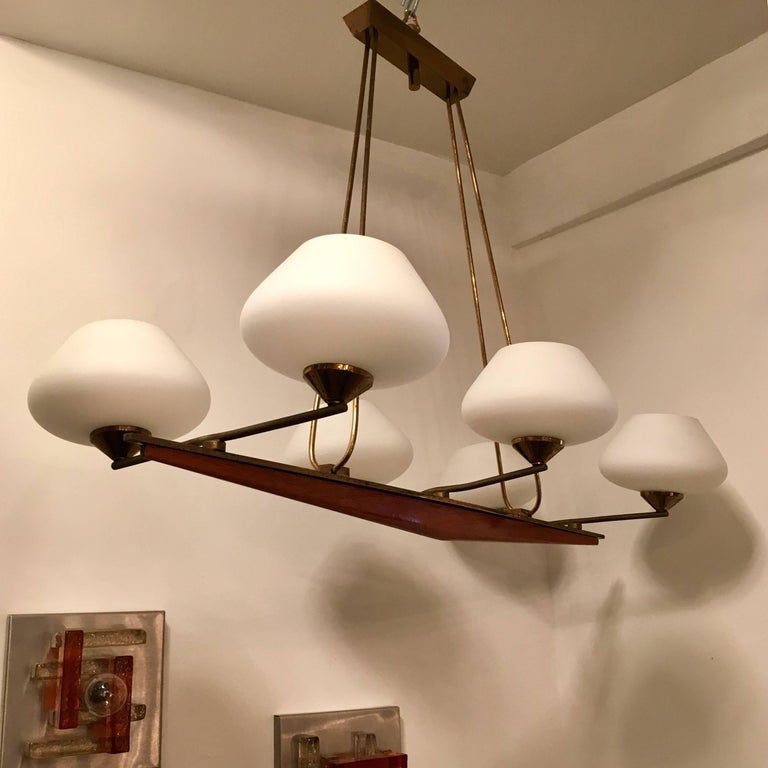 French Arlus 1960s Viking Chandelier In Excellent Condition For Sale In New York, NY