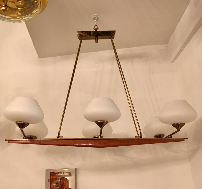 French Arlus 1960s Viking Chandelier For Sale 1