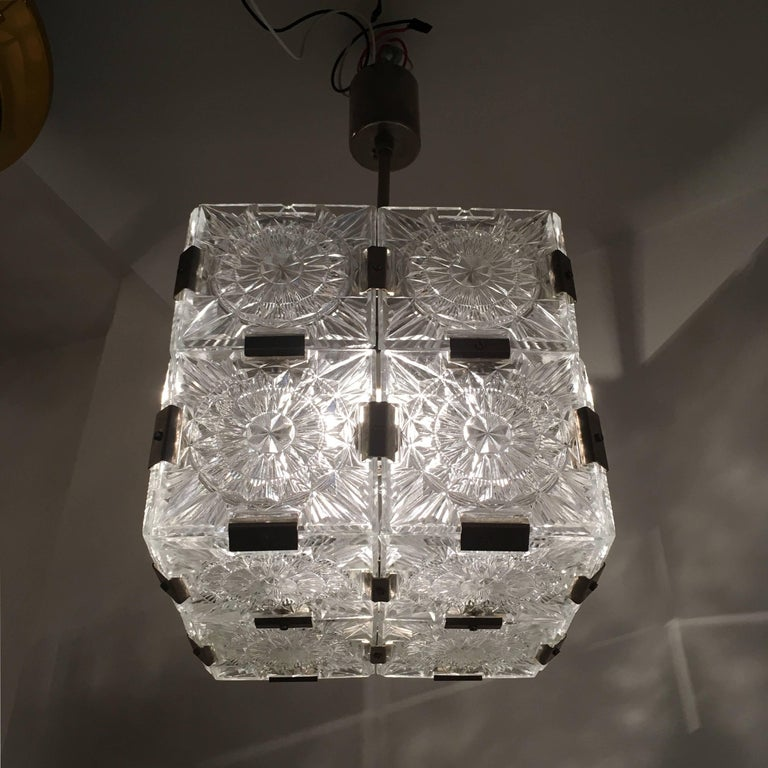 Czech Kamenicky Senov 1960s Crystal Pendant For Sale 4