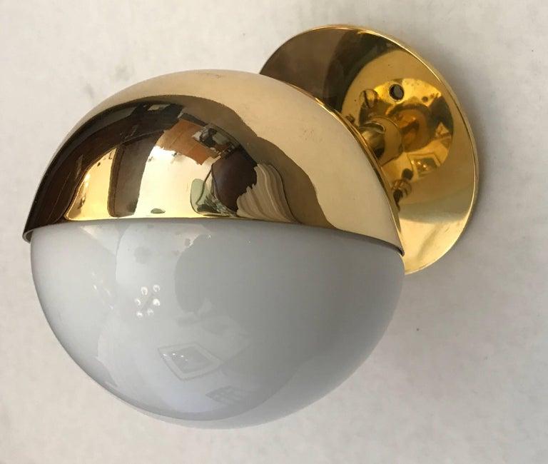 Brass Pair of Vilhelm Lauritzen Radiohaus Wall Lights Bauhaus For Sale
