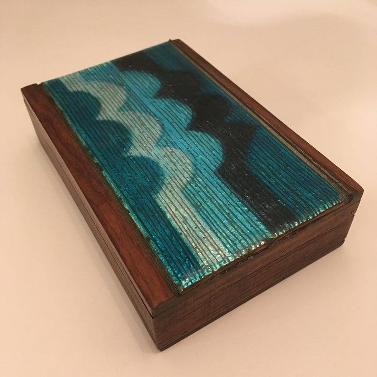 Studio Del Campo 1960s Enamel Box For Sale 2
