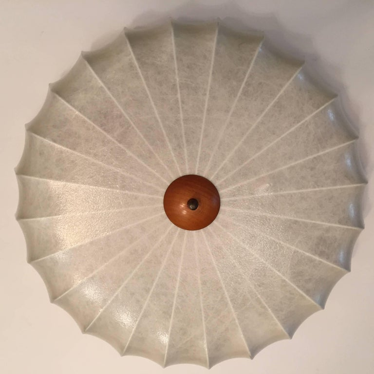 Mid-20th Century Achille Castiglioni 1960s Italian Flush Ceiling Light For Sale
