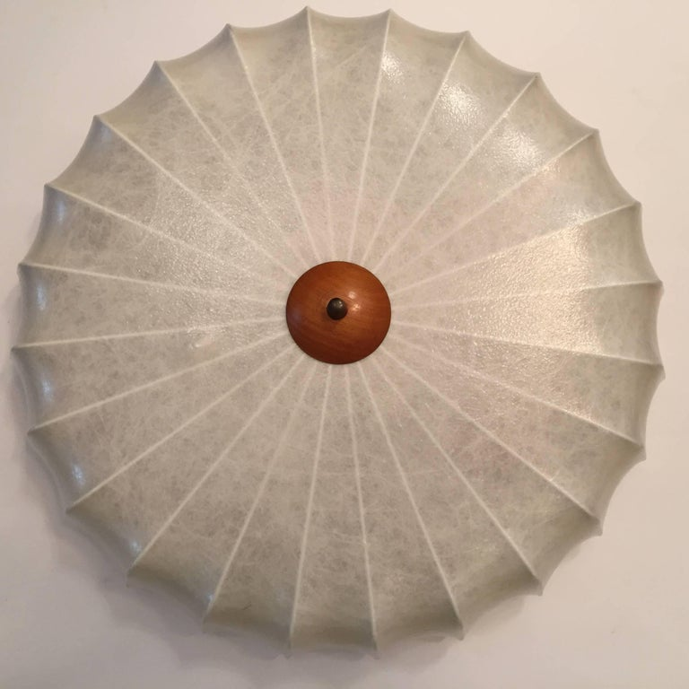 Brass Achille Castiglioni 1960s Italian Flush Ceiling Light For Sale