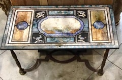 Beautiful Scagliola and Iron Coffee Table