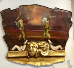 Interesting Leather,Giltwood and Plaster Venetian Theater Prop