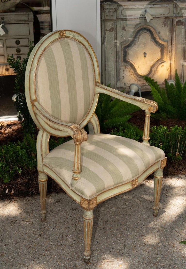 Louis XVI Fantastic Set of 12, 19th Century Armchairs For Sale