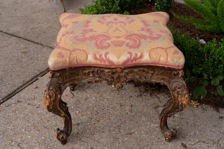 Pair of beautifully carved Italian benches Provenance-Rome Genoa Auction House.
