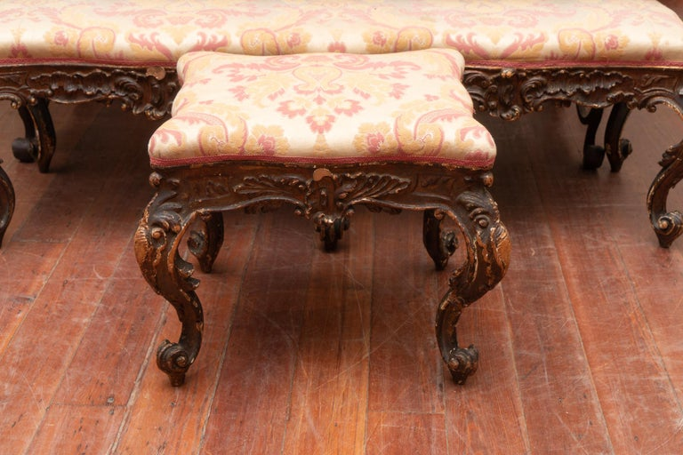 Pair of 18th Century Carved Italian Benches For Sale 1