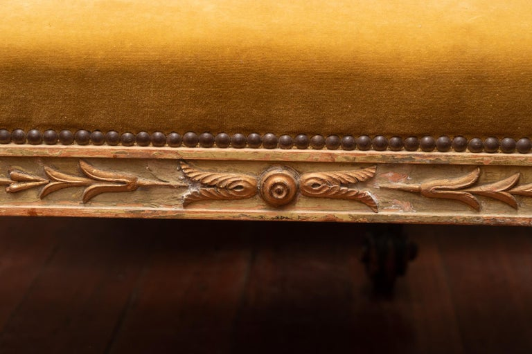 Empire Pair of 19th Century French Painted Benches For Sale