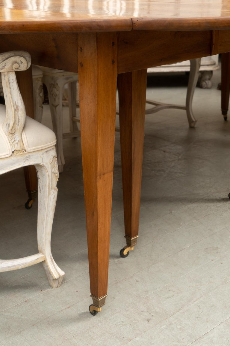 French 18th Century Directoire Walnut Extension Table For Sale