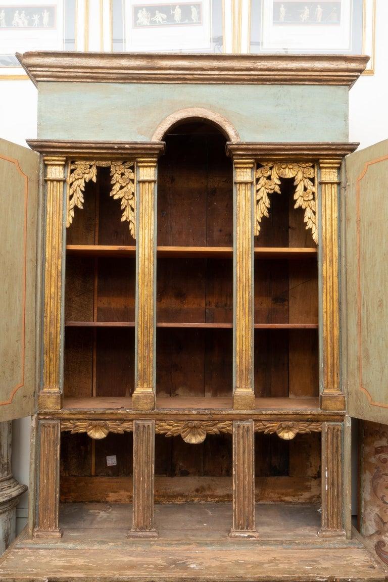 Gilt Fabulous 18th Century Italian Cabinet For Sale