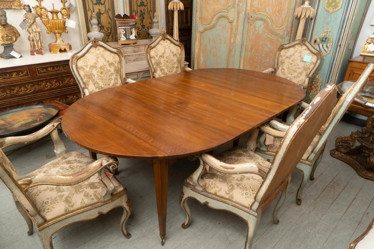 Directoire 19th Century French Walnut Extension Table For Sale