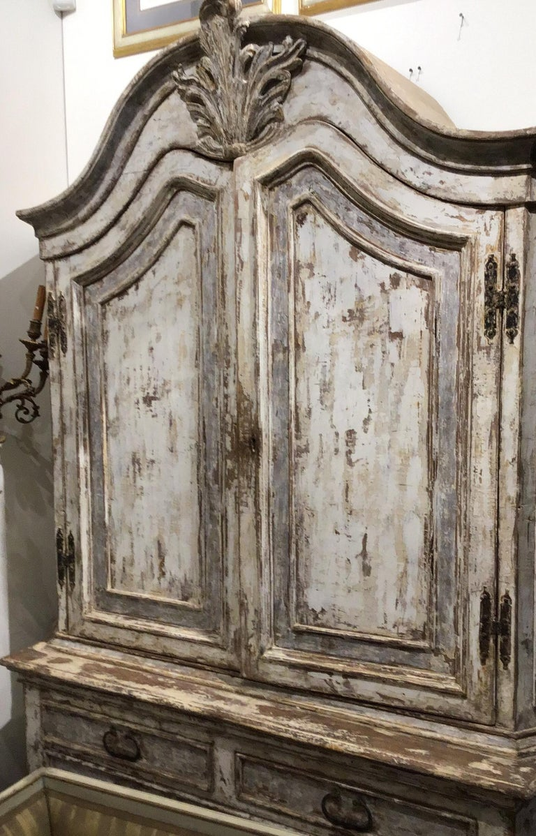 19th Century Painted Swedish Cabinet In Good Condition For Sale In New Orleans, LA
