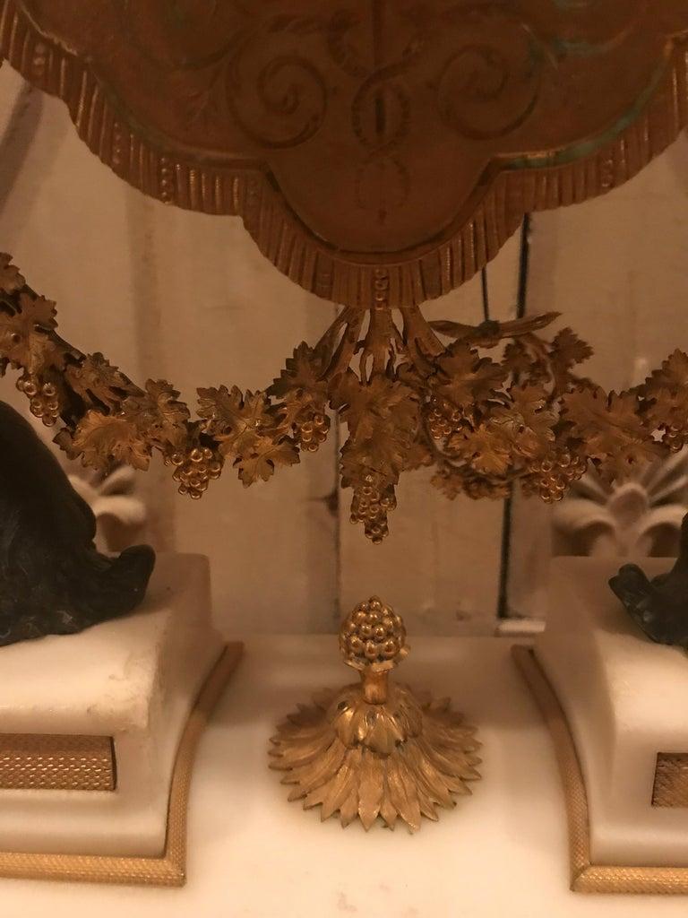 18th Century Bacchante Bronze Dore' Mantel Clock For Sale 1