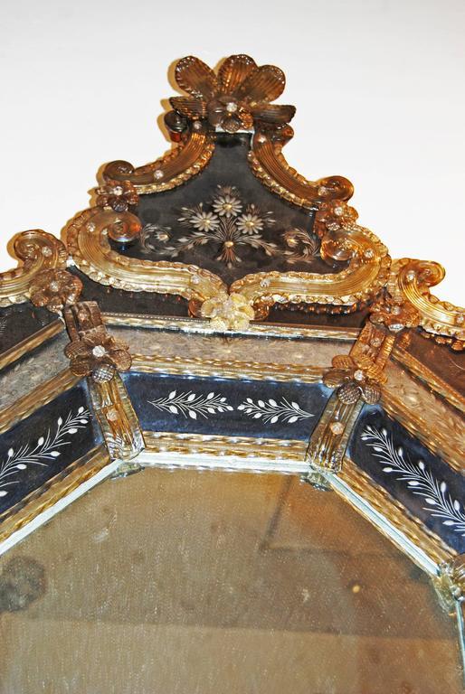 Italian 19th Century Venetian Murano Mirror For Sale