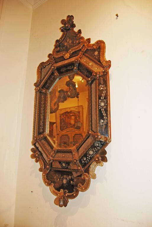 19th Century Venetian Murano Mirror In Good Condition For Sale In New Orleans, LA