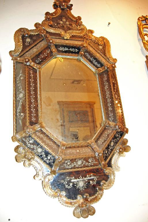 19th Century Venetian Murano Mirror For Sale 1