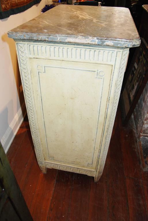 19th Century Painted Confiture Cabinet In Good Condition For Sale In New Orleans, LA