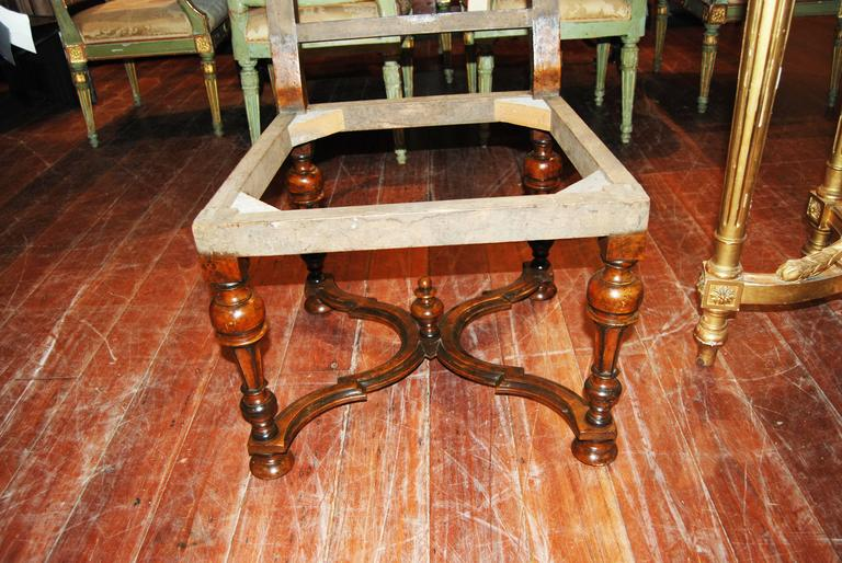 Set of Eight Louis XIV Walnut Chairs 4