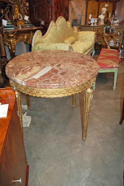 French Napoleon III Giltwood Center Table For Sale