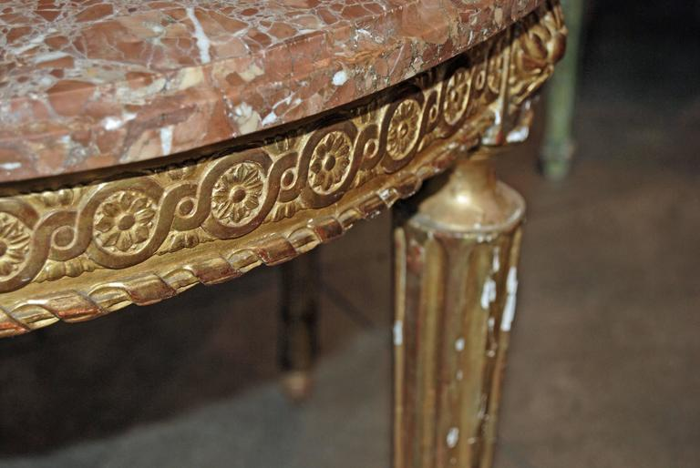Napoleon III Giltwood Center Table In Good Condition For Sale In New Orleans, LA