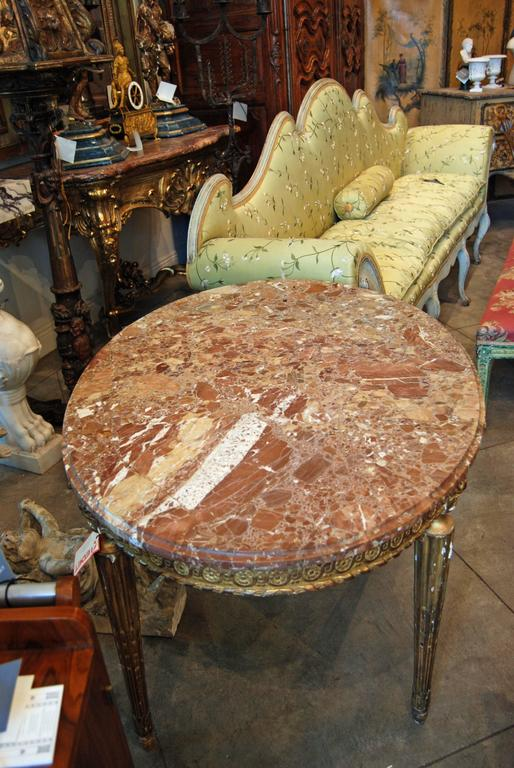 19th Century Napoleon III Giltwood Center Table For Sale