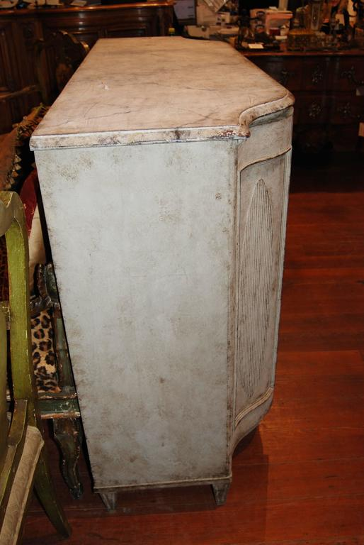 19th Century Painted and Carved Swedish Enfilade 4