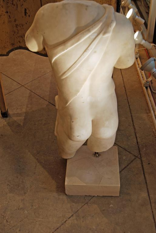 19th Century Carved Marble Torso In Good Condition For Sale In New Orleans, LA