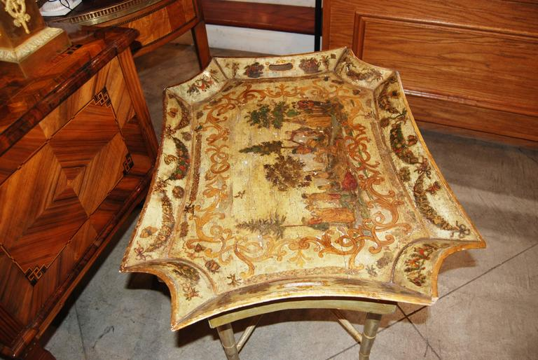 19th Century Italian Arte Povera Tray In Fair Condition For Sale In New Orleans, LA