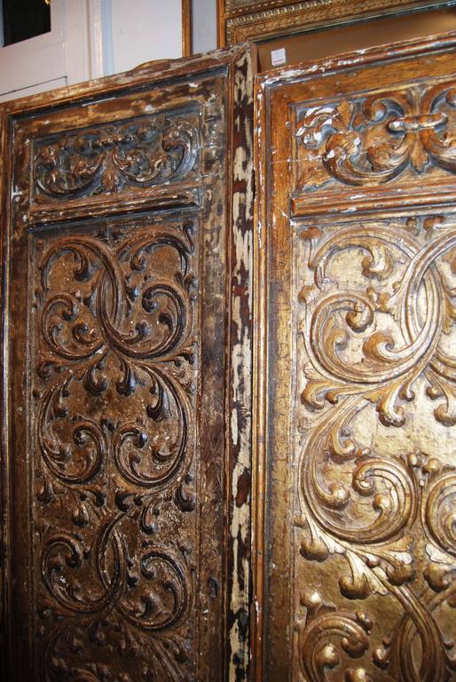 Italian 18th Century Giltwood Doors For Sale
