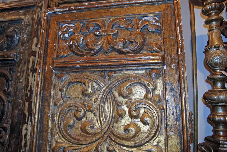 18th Century Giltwood Doors In Fair Condition For Sale In New Orleans, LA