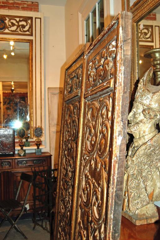 Iron 18th Century Giltwood Doors For Sale