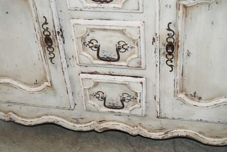 Belle Epoch Petit Painted Enfilade In Good Condition For Sale In New Orleans, LA