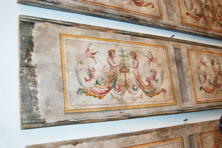 Italian 19th Century Painted Venetian Architectural Elements For Sale