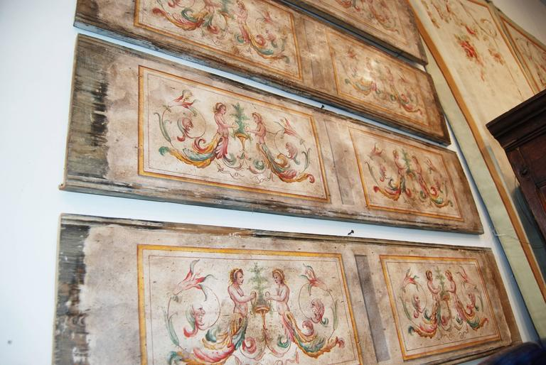 19th Century Painted Venetian Architectural Elements In Good Condition For Sale In New Orleans, LA