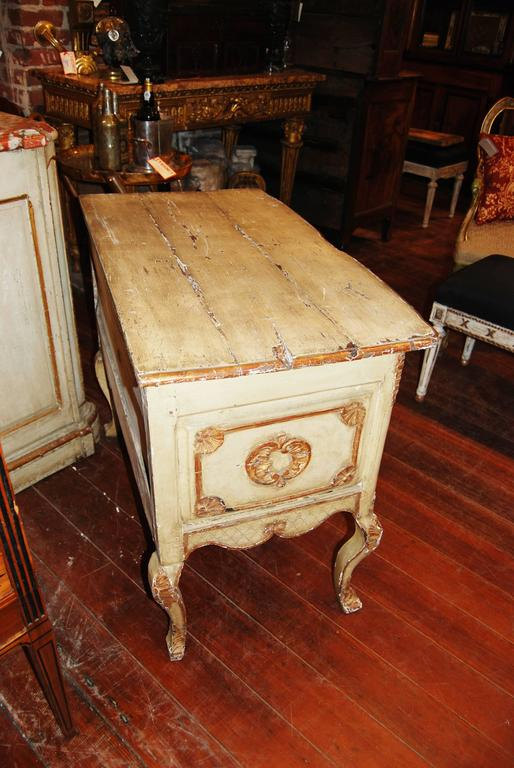 19th Century Painted and Gilded Petit Commode 2