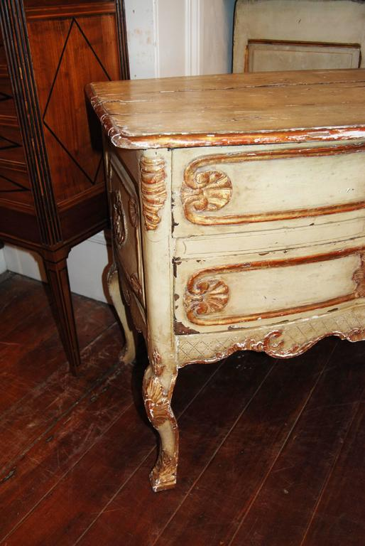 19th Century Painted and Gilded Petit Commode 4