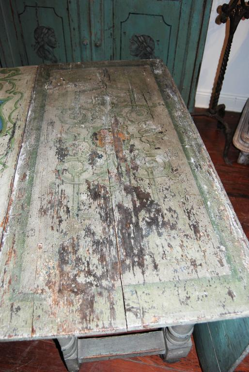 18th century Painted French Gateleg Table 5