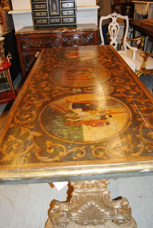 19th Century Italian Library Table For Sale 2