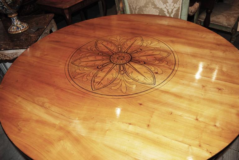 Exceptional Biedermeier Center Table 2