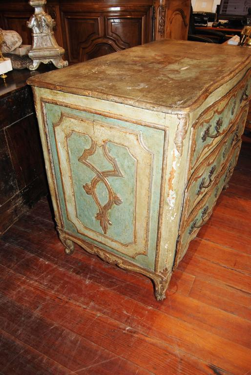 19th Century Painted Genovese Commode 3