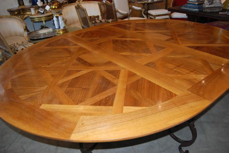 Fabulous Parquet De Versailles Oval Dining Table 4