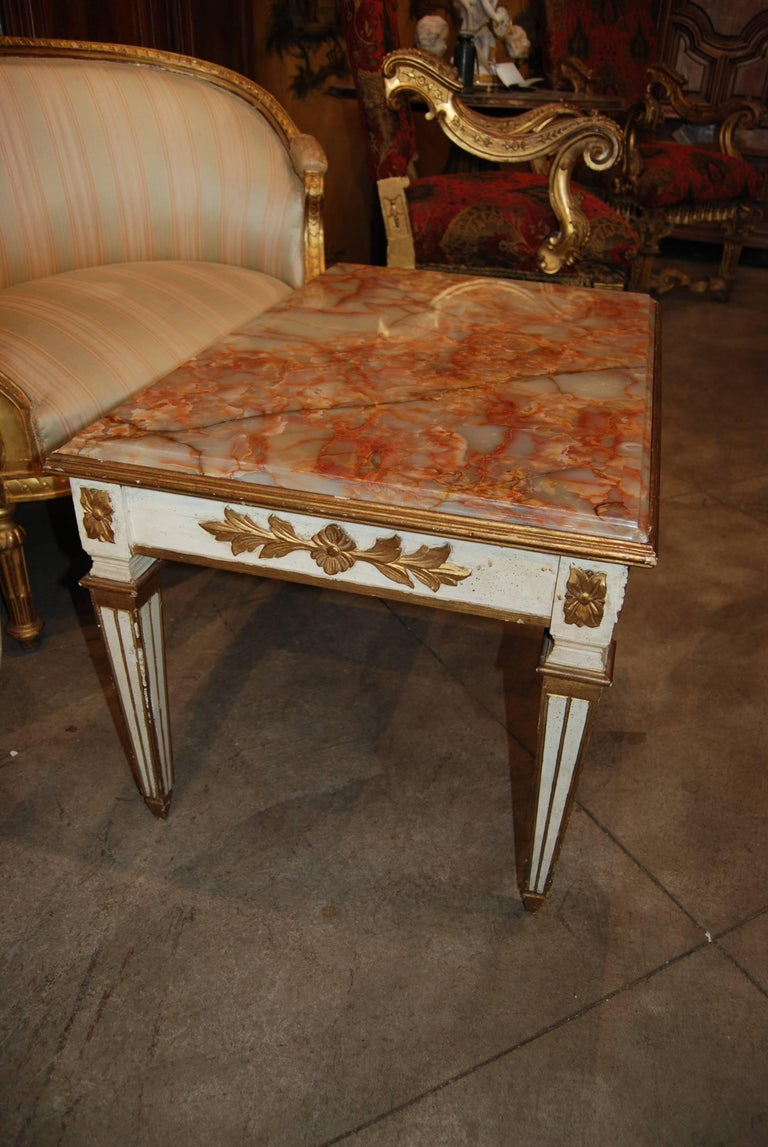 French Belle Epoch Painted Low Table For Sale