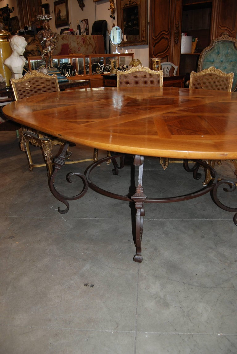 Fabulous Parquet de Versailles Oval Dining Table 2