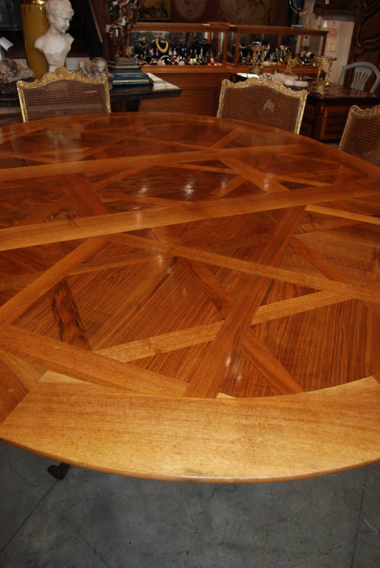 Fabulous Parquet de Versailles Oval Dining Table 3