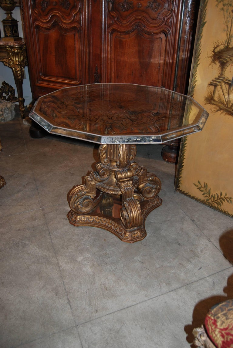 Fabulous Art Deco mirrored center table.