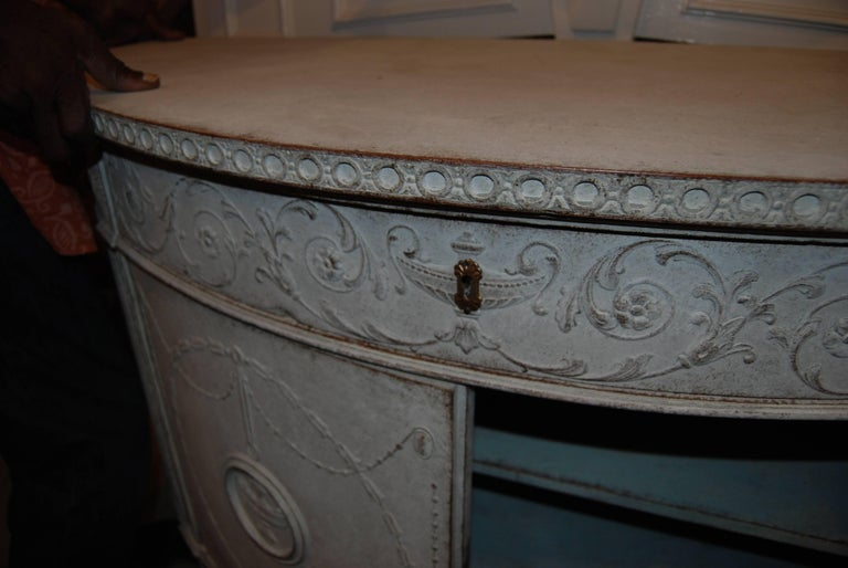 19th Century Demilune Buffet 3