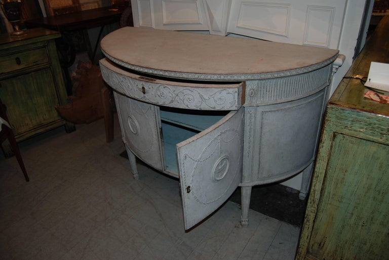 19th Century Demilune Buffet 4